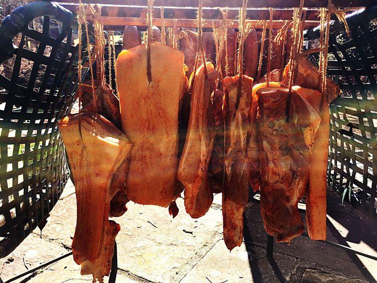 Smoked bacon Bacons Smoked Bacon Smoked Meat Pork Outside Food Home Made Food