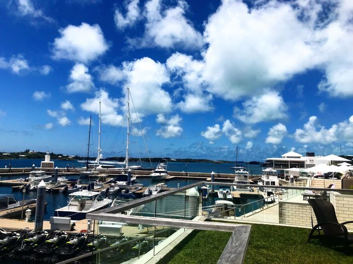 Docks Marina Boats Cloud - Sky Sky Architecture Built Structure Nature Day Transportation Building Exterior Mode Of Transportation City Nautical Vessel Water Outdoors Sailboat No People Travel Sunlight Car Moored Cityscape