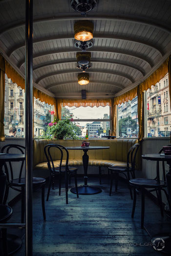 The Tram from inside. Hanging Out Taking Photos Check This Out Hello World Praha ❤️ Prague Czech Republic Travel Photography Traveling Inside Architecture Interior Interior Views Interior Decorating