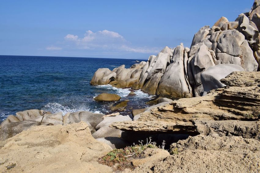 Sea Nature Rock - Object Sky Horizon Over Water Beauty In Nature Water Scenics Tranquility No People Day Outdoors Capotesta