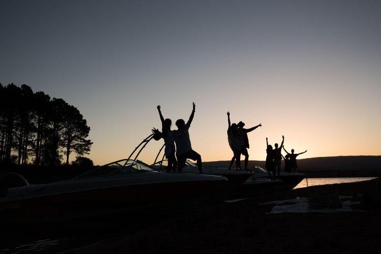 Amistad Contraluz Firends  Friendship Lancha Sunset Water