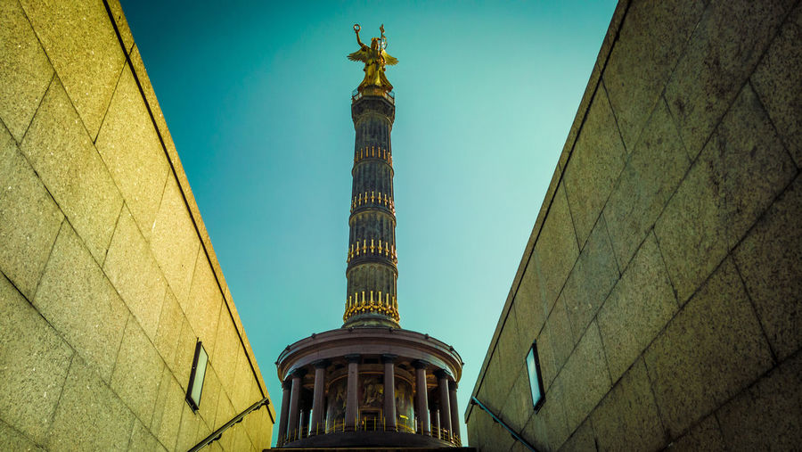 Architecture Berlin Building Exterior Built Structure Capture Berlin City Clock Face Day Gold Gold Colored History No People Outdoors Place Of Worship Religion Representing Sculpture Sky Spirituality Statue Travel Destinations