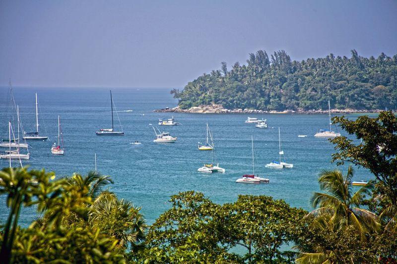 Blue Wave Yachts in the sea bay Yacht Yachts Sea Sea Bay Bay Summer Summertime Thailand Original Experiences