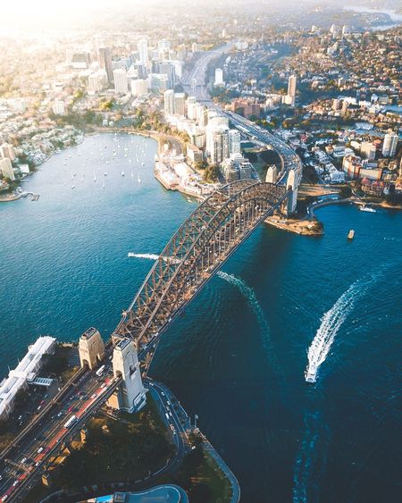 Sydney city gate Mavic Pro Ariel Drone  Sydney Water Sea Aerial View Architecture High Angle View
