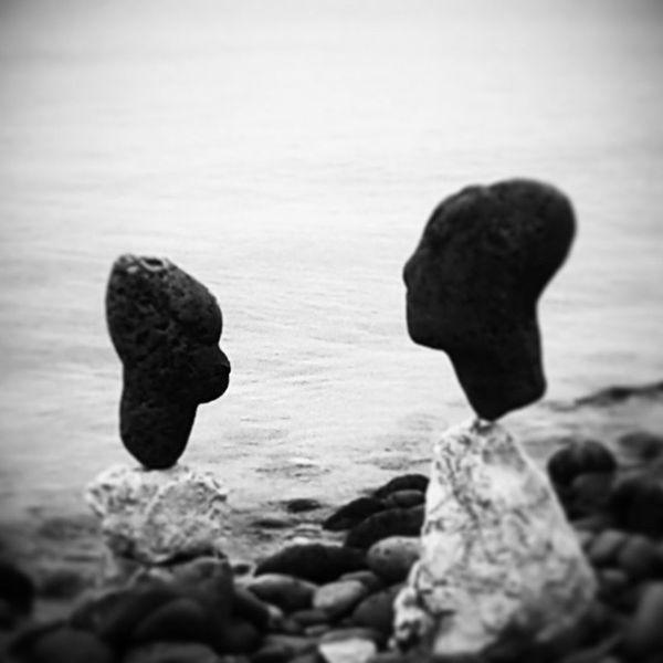 Equilibrio Mare Sassi Profilo Rocks Profile