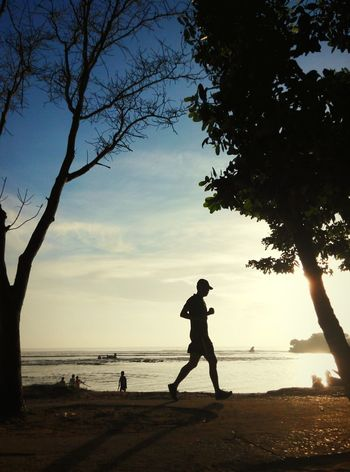 Let's run! Sunshine Sea Sport Running Runner Sunrise Sillouette Xiaomi RedmiNote