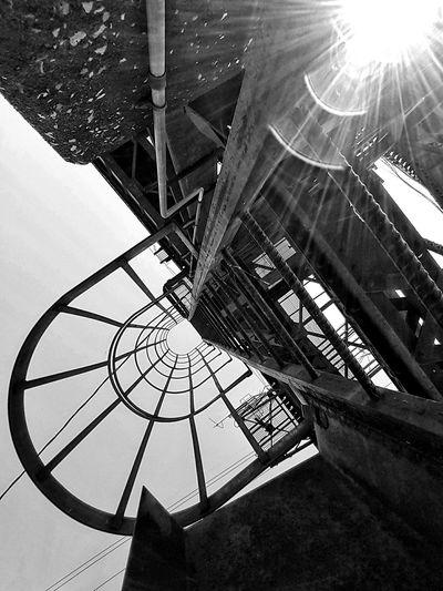 Vertigo Blandwhite Black And White Eyeem Vertigo Bridge Sun Glare Sun Rays