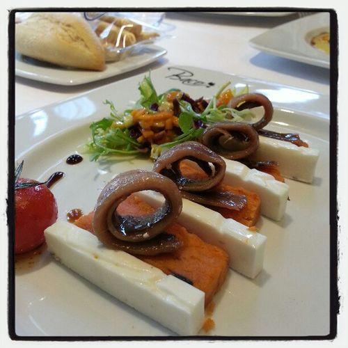 Milhojas d anchoas y queso d cabra #cuna2