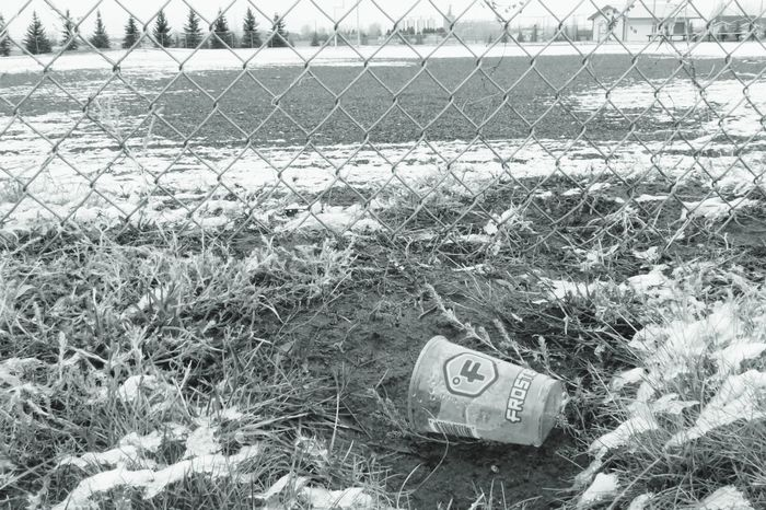 don't litter anywhere Nature Winter Snow Litter Diamond Pattern B&w December