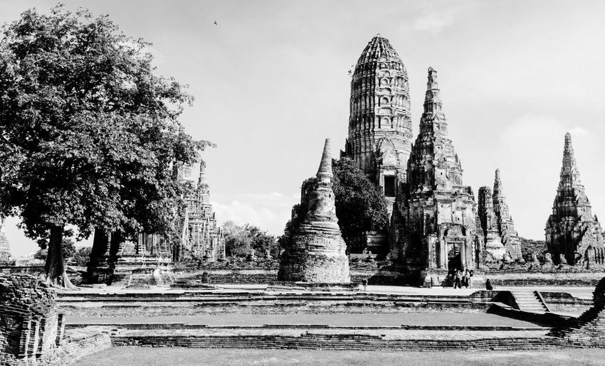 Lost Empire Fujifilm_xseries Thailand Ayutthaya Architecture Built Structure Building Exterior History Tree The Past Religion Place Of Worship Plant Travel Destinations Sky Building Spirituality Belief Ancient Tourism Nature Day Travel Ancient Civilization Outdoors No People Archaeology Spire