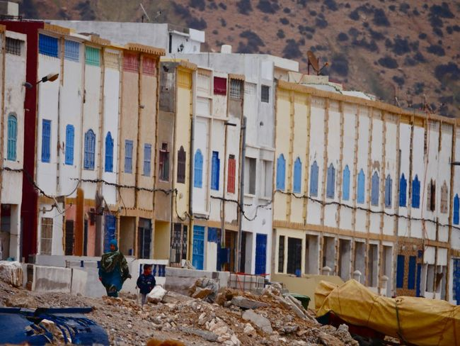 Colorful windows Two Outdoors Photograpghy  Children Culture Morocco Colors Arabic Woman Walking Windows