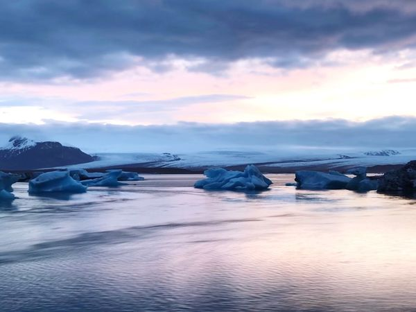Sky Cloud - Sky Water Scenics - Nature Beauty In Nature Sea Tranquility Ice Snow Waterfront Outdoors Cold Temperature Sunset Tranquil Scene Nature Winter Idyllic No People