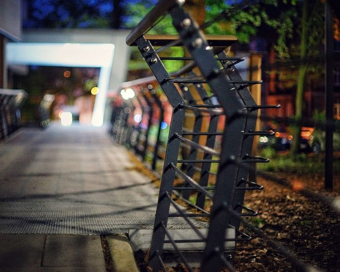 Silent place at Night Transportation Architecture Built Structure No People Mode Of Transportation Land Vehicle Building Exterior Staircase Railing City The Way Forward Metal Direction In A Row Nature Street Night Outdoors Illuminated