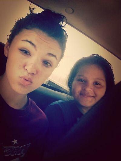 Alyssa's ugly self & I ♥. 
