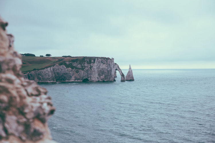 Calm Cliff Coastline Escapism Horizon Over Water Ocean Outdoors Rippled Rock Rock Rock Formation Seaside Shore Sky Tourism Vacation Vacations Water Waterfront étretat The Week On EyeEm The Great Outdoors With Adobe The Great Outdoors - 2016 EyeEm Awards Nature's Diversities