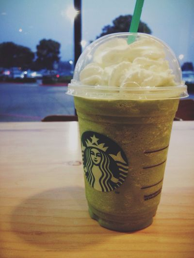 Just in Time [Peppermint Pow Frappuccino, Starbucks Coffee] Drinking Coffee Starbucks Chillin