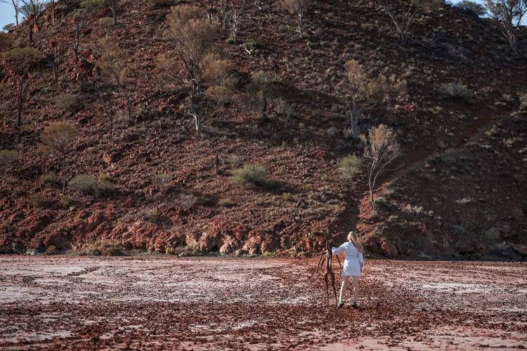 Lake ballard and the world's most isolated art by sir antony gormley in western australia