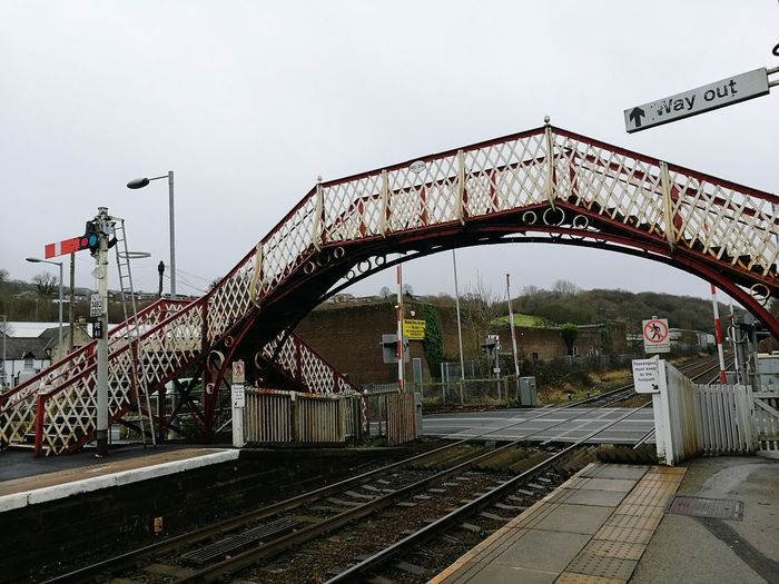 On me travels.... Bridge - Man Made Structure Outdoors Rusty City No People Train Station Train Track