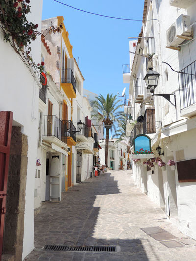 Old town of Ibiza, historic city or Dalt lane or alles, travel destination. Historic City Historical Building Ibiza Ibiza, Spain Old Town Road SPAIN Alley Architecture Building Building Exterior Built Structure City Dalt Vila Day Historical Ibiza Town Idyllic Lane Nature Outdoors Residential District Sky Street Travel Destinations