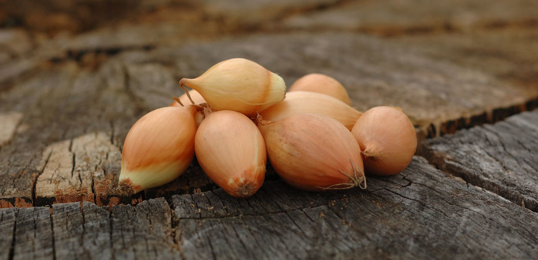 Close-up of shallots