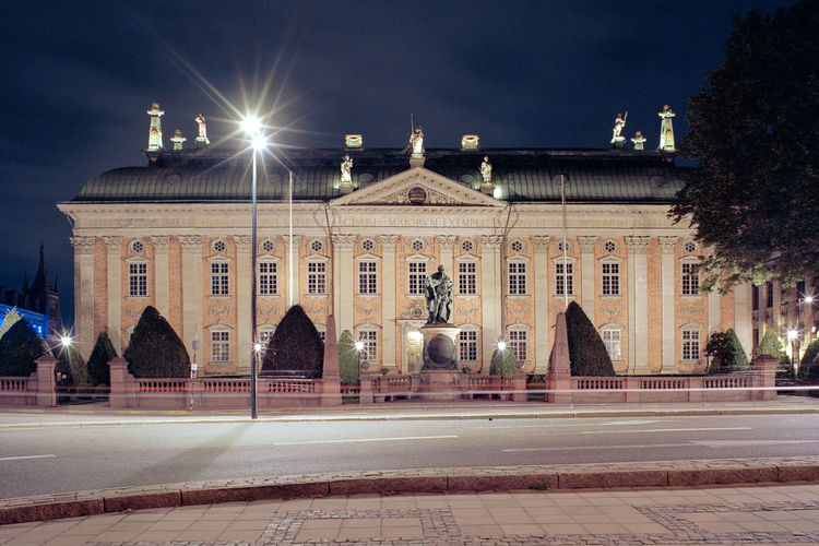 View of building at night