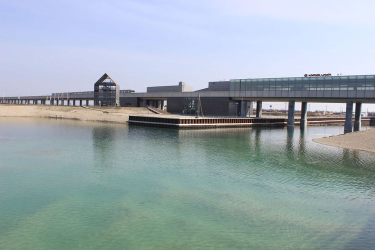 Seestadt Aspern Vienna Architecture Clear Sky Lake No People Outdoors Ubahn