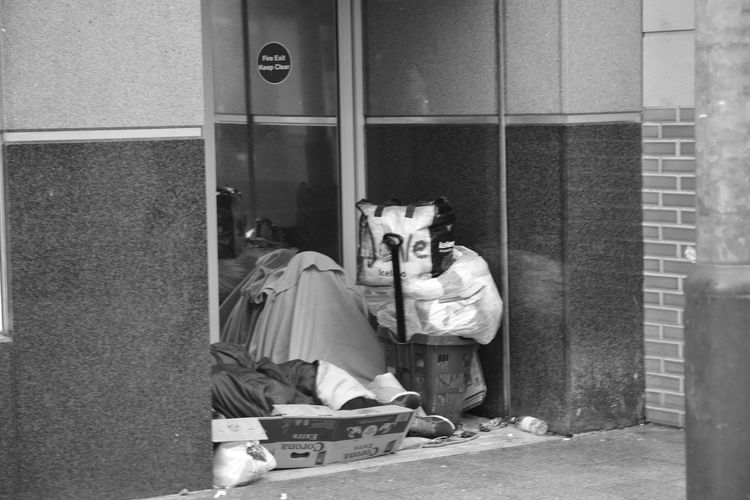 NoEditNoFilter No People Streetphotography Liverpool EyeEm Nikon D5200 Daytime Stroll Allmyphotography Blackandwhite Photography Homelessness  Poor People  Living In A Cardboard Box