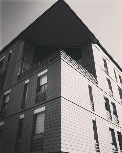 Building Exterior Built Structure Architecture Triangle Shape Window Low Angle View Outdoors No People Day Modern Sky Picoftheday Photooftheday Digital Art Old-fashioned Photography Artoftheday Architecture Welcome To Black