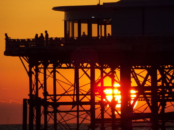 Sea Central Pier Blackpool Central Pier Sun Sunset Seascape Sunset Over The Sea Red Sky Silhouette Silouette & Sky Silhouette Of A Pier Silhouette Of People The Great Outdoors - 2016 EyeEm Awards People Of The Oceans 43 Golden Moments People And Places Finding New Frontiers Miles Away