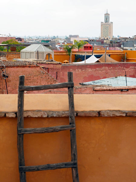 Architecture Built Structure City Day Ladder Ladders Marrakech Morroco No People Wall Wall - Building Feature Morocco Marrakesh