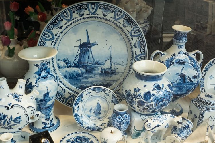 Ceramics Pottery Porcelain  Antique Old-fashioned No People Plate Teapot Indoors  Day Monument (null)Old Old Town The Netherlands Delft Paint