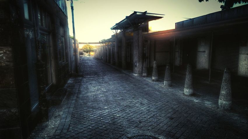 Alleyway at sunset... A deep breath and some haste to snap this, it was my first time in this part of town. Dodgy  Alley Sunset