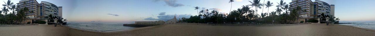 Good Morning Hello World Aloha World On The Beach Early Morning Enjoying The Calmness Panorama