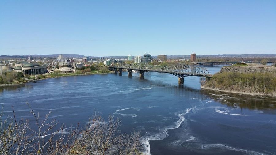 Beautiful view from the Parliament Hill Ottawa View Sunmer River Bridge