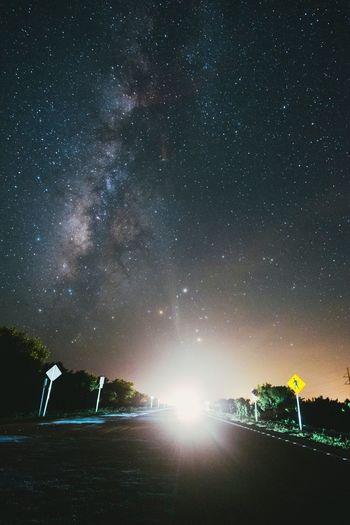 Road Long Exposure Milkyway Longexposure Nightphotography Stars Sky Lights Road EyeEm Best Shots EyeEm Nature Lover EyeEm Gallery EyeEm