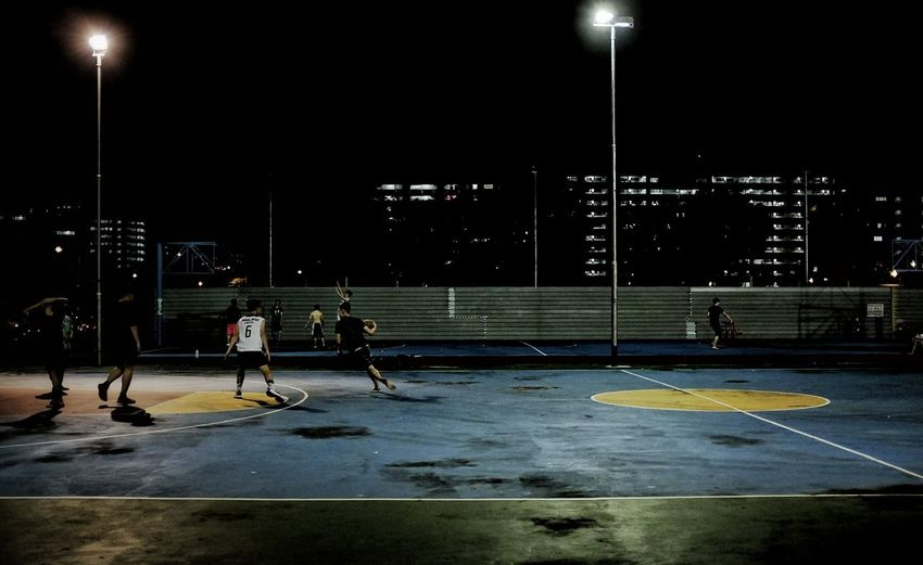 Courtside. Sport City Life City Singapore Urban Exploration Cityscape Outdoors Streetphotography Basketball Courtside Night Ballers Neighborhood Map The Street Photographer - 2017 EyeEm Awards EyeEmNewHere