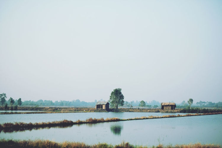 Asian  Asian Culture Blue Clear Sky Countryside Early Morning Hoang Ann Minimalism Nature_collection Naturelovers Outdoors Relaxing Moments Trip Vietnam Water Wide Angle