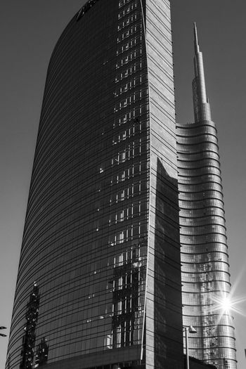 Gae Aulenti, Milan Architecture Building Exterior Built Structure City Low Angle View Modern No People Outdoors Sky Skyscraper Tall - High Tower Travel Destinations