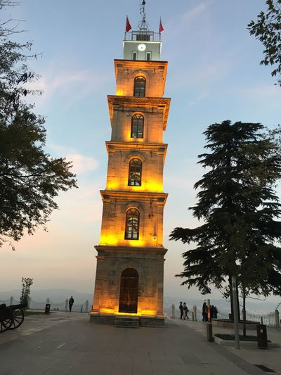 Osman Ghazi Architecture Building Exterior Built Structure Bursa / Turkey Clock Clock Tower Osmangazi Tower Travel Destinations Tree
