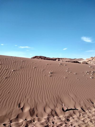 Sand dunes in atacama - chile. the driest place on earth.