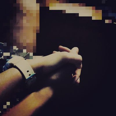 holding my two hand is like holding your hand' ' ' :) Feelingjust Beige
