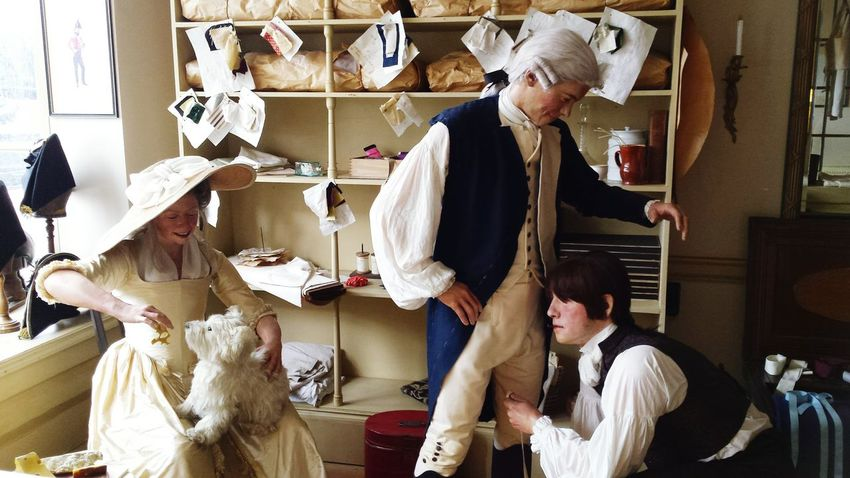 Adults Only Adult Small Business Business Finance And Industry Preparation  Expertise Skill  Fashion Sewing Occupation Business Museum Harbourside Quayside Wax Figure Customer  Old-fashioned Historic Working Tailors
