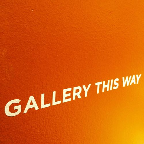 Gallery This Way Typography Text Orange Sign