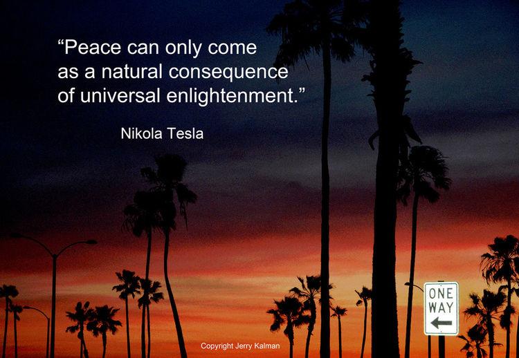 #Quotograph: #Nikola Tesla birthday quote over sunset at #NewportBeachPier Electricity  Newport Beach Pier Nikola Tesla One Way Sign Quote Quotes Quotograph Sunset