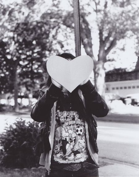Black And White Black And White Film Black And White Photography Bright Casual Clothing Day Film Photography Focus On Foreground Heart Interpretive Leisure Activity Lifestyles Light No Faces Outdoors Pentax Photography Save Your Heart Selective Focus