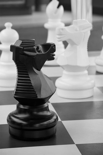 A Roland for an Oliver Black And White Board Chess Draw Evenly Game, Knight  Matched Piece Play Tie
