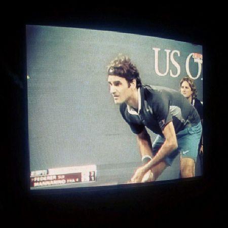 8vo de final Federer vs Mannarino Usopen