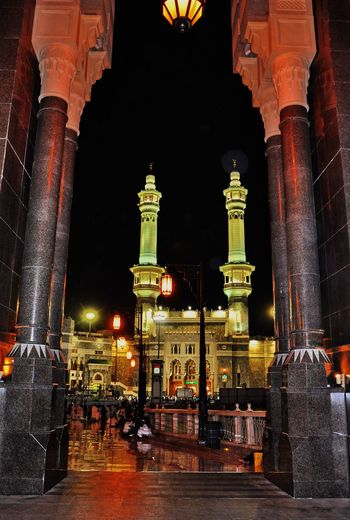 Holy mosque Masjidilharam night shot Architecture Religion Built Structure Spirituality Illuminated Travel Destinations Travel History Tourism Place Of Worship Architectural Column Building Exterior Night Outdoors City Sky No People Masjidilharam Macca Holy Mosque The Week On EyeEm EyeEmNewHere Paint The Town Yellow