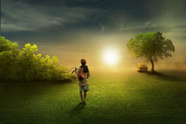 go to the light The Creative - 2018 EyeEm Awards Golf Course Tree Full Length Sport Competition Golfer Sky Grass