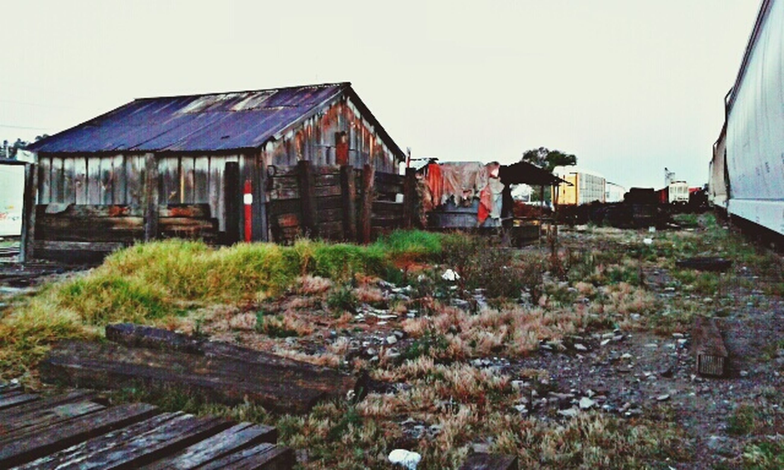 building exterior, built structure, architecture, house, clear sky, abandoned, residential structure, obsolete, damaged, old, wood - material, village, residential building, day, hut, sky, run-down, deterioration, outdoors, no people